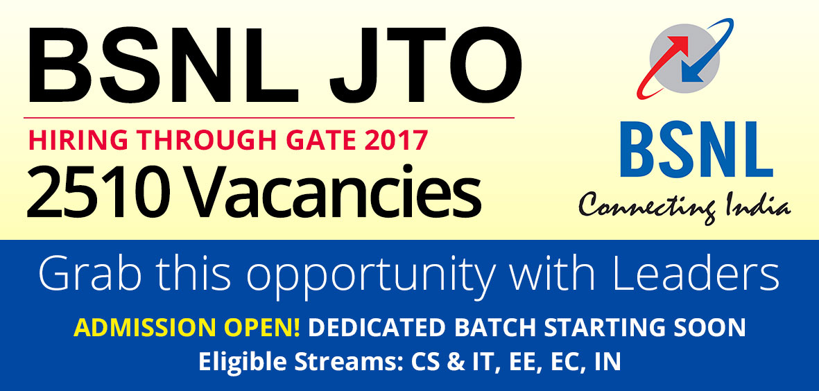 BSNL hiring through GATE 2017 Exam - Engineers Career Group